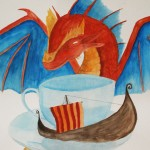 Dragon Teacup Viking Ship